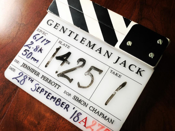 "Simon Chapman shoots ""Gentleman Jack"" after Dr Who wraps"