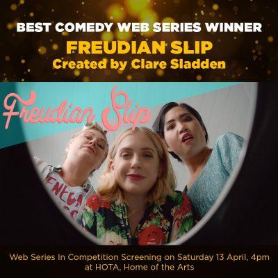 Clare Sladden wins best comedy web series at Gold Coast Film Festival for FREUDIAN SLIP